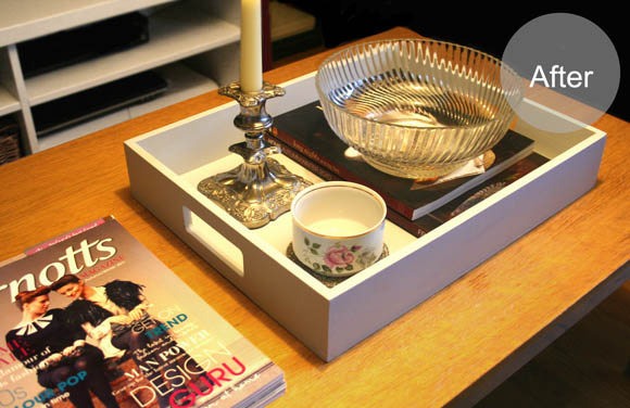 Mini Makeover Coffee Table Tray